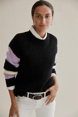 Country Road Striped Sleeve Sweater
