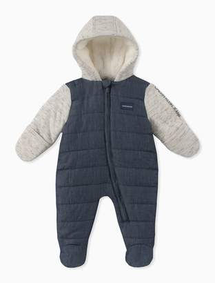 e777b8ea0d13 Calvin Klein baby boy colorblock quilted onesie