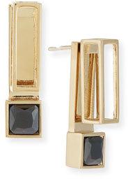 Jason Wu Square Crystal Jacket Earrings, Black $455 thestylecure.com