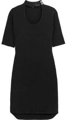 Versace Ribbed Stretch-jersey Mini Dress