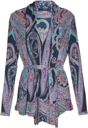 ETRO Paisley-print waterfall shirt $791 thestylecure.com