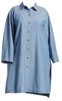 Lafayette 148 New York Lafayette 148 New York, Plus Size Kyrie Chambray Blouse