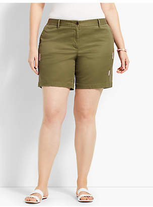 "Talbots 7"" Distressed Girlfriend Chino Short"