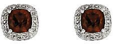 QVC Sterling Silver Cushion-Cut Gemstone Stud Earri