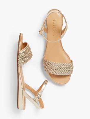 Talbots Daisy Micro-Wedge Sandals-Metallic