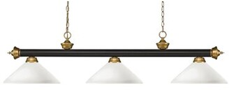 Pool' Red Barrel Studio Brynlee 3-Light Bowl Glass Pool Table Light with Hanging Chain Red Barrel Studio
