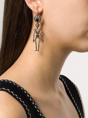 Alexander McQueen skeleton earrings