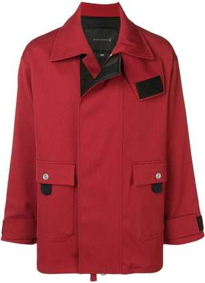 MACKINTOSH 0004 Brick Red Virgin Wool Blend 0004 Fireman Coat