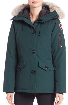 Canada Goose Montebello Fur-Trimmed Down Parka $795 thestylecure.com