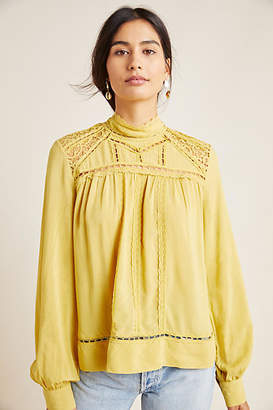 Blue Tassel Melody Peasant Blouse