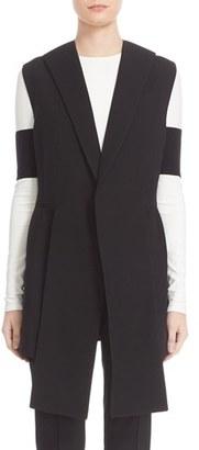 Women's Narciso Rodriguez Long Wool Pique Vest $2,495 thestylecure.com