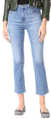AG The Isabelle High Rise Straight Jeans $215 thestylecure.com
