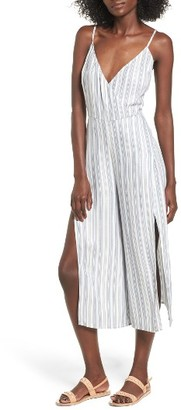 Women's Love, Fire Stripe Surplice Jumpsuit $55 thestylecure.com