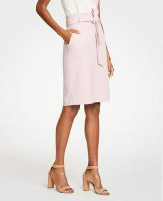 Ann Taylor Petite Tie Waist Pencil Skirt