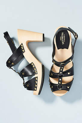 Swedish Hasbeens Brassy Clog Sandals