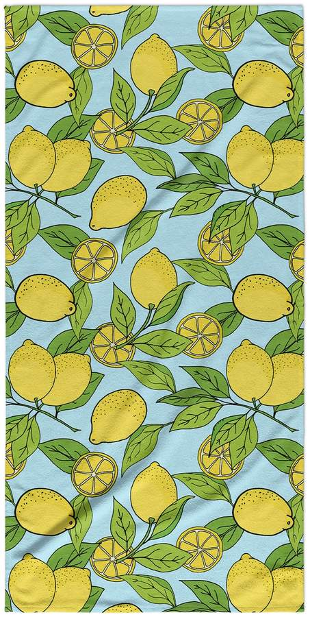 Kavka Designs Lemons Beach Towel