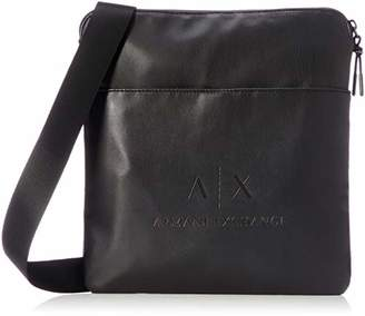 Armani Exchange Medium Flat Crossbody Bag, Men's Messenger , 30x10x42 cm (B x H T)