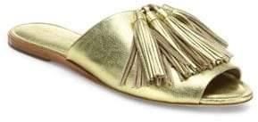 Loeffler Randall Kiki Tassel Metallic Leather Slides