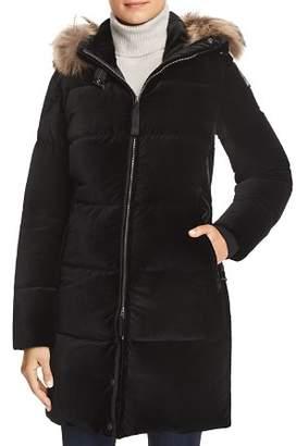 Parajumpers Sindy Fur Trim Velvet Down Coat