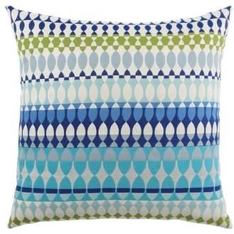 Modern Oval Ocean Indoor/Outdoor Accent Pillow