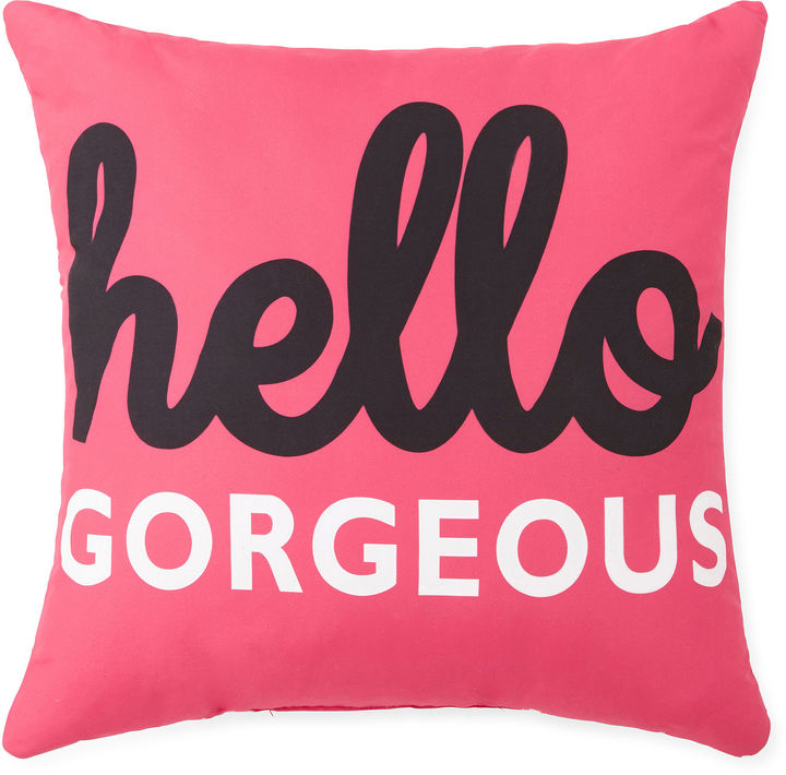 Home ExpressionsTM Hello Gorgeous Decorative Pillow