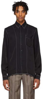 Daniel W. Fletcher Black Contrast Stitch Shirt