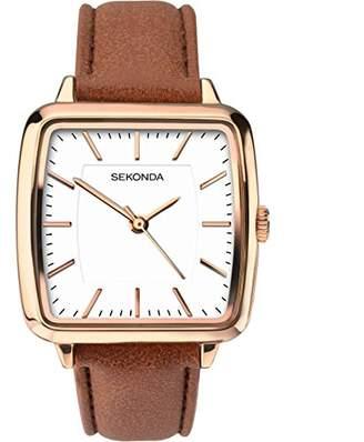 Sekonda Womens Analogue Classic Quartz Watch with PU Strap 2450.27