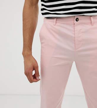 Asos Design DESIGN Tall slim chinos in pastel pink