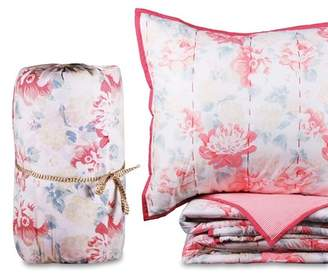 California Design Den by NMK King English Floral Handcrafted Cotton Quilt Set - Floral