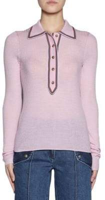 Acne Studios Long Sleeve Collared Knit Top