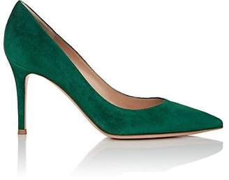 "Gianvito Rossi Women's ""Gianvito"" Suede Pumps - Dk. Green"