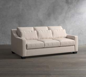 Pottery Barn York Slope Arm Deep Seat Upholstered Sofa