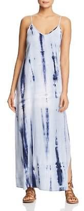 Rob-ert Robert Michaels Tie-Dyed Side-Slit Maxi Dress