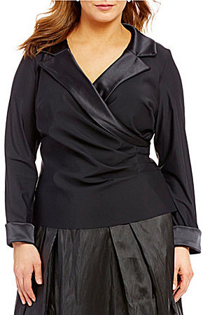 Alex Evenings Alex Evenings Plus Faux-Wrap Blouse
