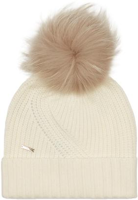 WOOLRICH JOHN RICH & BROS. Fur-pompom beanie hat $101 thestylecure.com