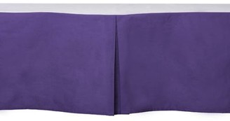 "Bacati Solid Purple Crib Skirt 100 Percent Cotton Percale with 13"" Drop For US Standard Crib/Toddler Bed"