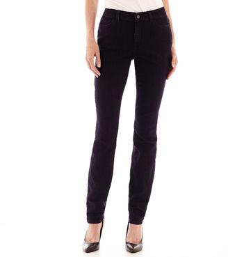 LIZ CLAIBORNE Liz Claiborne Curvy-Fit Slim-Leg Jeans $48 thestylecure.com