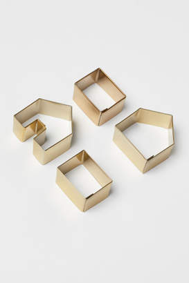 H&M 4-pack Cookie Cutters - Gold