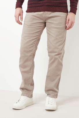 Next Mens Stone Slim Fit Laundered Chinos