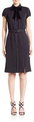 Alice + Olivia Carie Belted Shirtdress $395 thestylecure.com