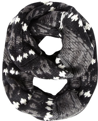 Dorothy Perkins Black fairisle chunky snood