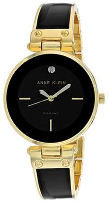 Anne Klein Classic Crystal Bangle Ladies Watch AK-2898BKGB