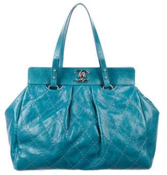 Chanel Large On The Road Tote Teal Large On The Road Tote
