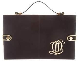 Olympia Le-Tan Leather Compartment Bag Black Leather Compartment Bag