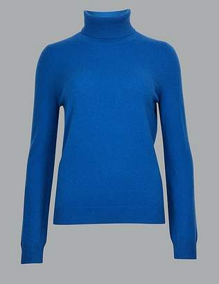 Marks and Spencer Pure Cashmere Roll Neck Jumper