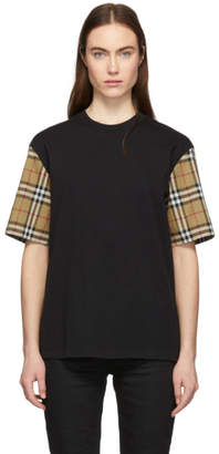 Burberry Black Vintage Check Serra T-Shirt