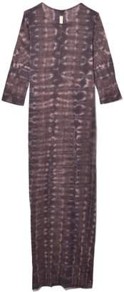Raquel Allegra Half Sleeve Caftan Dress in Bobcat Tie Dye