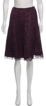 Ralph Lauren Black Label Flared Lace Skirt