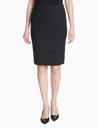Calvin Klein dotted stripe sweater skirt