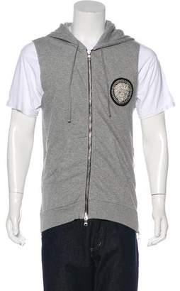 Balmain Sleeveless Embellished Sweatshirt